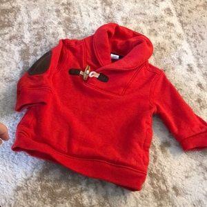 Janie & Jack shawl collar sweatshirt w/elbow patch